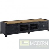 "63"" Industrial Rustic Dungeon TV Stand"