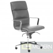 LEIF HIGH BACK OFFICE CHAIR GREY