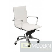 OWEN LOW BACK OFFICE CHAIR WHITE