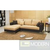 0962 Dual-Toned Microfiber Sectional Sofa