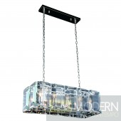 "34"" Iceberg Collection Pendant Lamp Polished Nickel Finish"