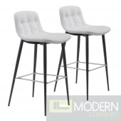 Tangiers Bar Chair White by Zuo Modern  (Set of 2)  LOCAL DMV DEALS