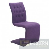Hyper dining chair Purple (set of 2)