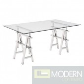 Glass Lado Desk