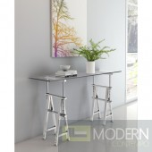 Eiffel Console Table Chrome