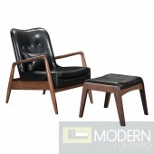 Bern Lounge Chair & Ottoman, Black