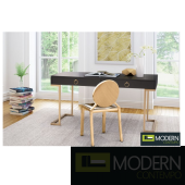 Revell Desk Black & Brass