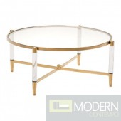 Mayfair Coffee Table - Clear, Gold