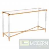 Mayfair Console Table, Gold