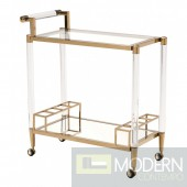 Mayfair Bar Cart - Clear, Gold