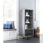 Raven Narrow Tall Shelf Gray