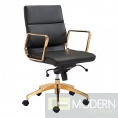 Zuo Modern Scientist Low Back Office Chair in Black and Gold - LOCAL DMV DEALS