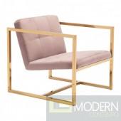 Alt Pink Velvet Arm Chair by  ZUO LOCAL DMV DEALS