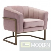 Zuo Modern Lyric Occasional Chair in Pink Velvet LOCAL DMV DEALS