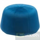 Geneva Velvet Ottoman, Blue