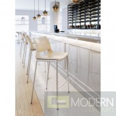 Zuo Modern Ace 40.9 in. Light Pink Bar Chair (Set of 2) LOCAL DMV DEALS