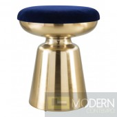 Rockville Side Stool - Blue Velvet