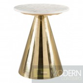 Pure Side Table, White & Gold