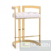 Claudia Counter Chair Aspen White w/ Gold base