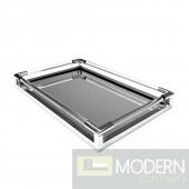 Barbo Acrylic Tray, Nickel