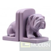 Bulldog Bookend Purple