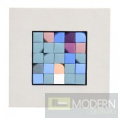 Crossword  Wall Art White Frame