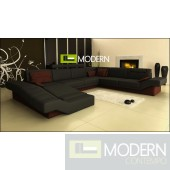 Modern Leather Sectional Sofa  MCNV106B