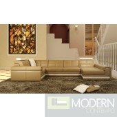 Modern Leather Sectional Sofa  MCNV108B