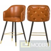 Braga Faux Leather Bar   Counter Stool  - Set of 2