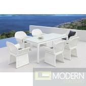 Renava Provence Modern White Outdoor Dining Set