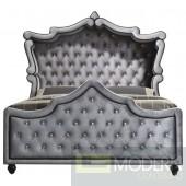 Grey Velvet Venus Canopy Bed