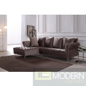 Adalene Light Grey Velvet Sectional Sofa