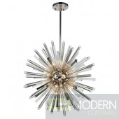 Glacier 21 Light Crystal Chandelier In Polished Nickel With Royal Cut Clear Crystal 36""