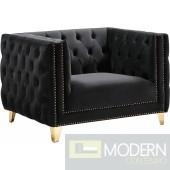 Desire Black Velvet Chair