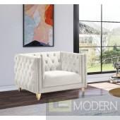 Desire Cream Velvet Chair