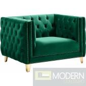 Desire Green Velvet Chair