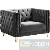 Desire Grey Velvet Chair