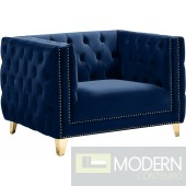 Desire Navy Velvet Chair