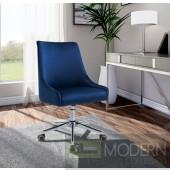 Lusso Velvet Office chair CHROME