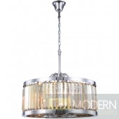 "28"" Greenwich 8 Light Crystal Chandelier - Golden Teak"