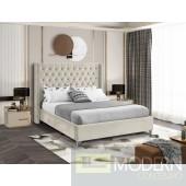 Aiden CREAM Velvet Platform Bed LOCAL DMV DEALS