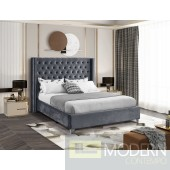 Aiden GREY Velvet Platform Bed LOCAL DMV DEALS