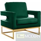 Athena Green Velvet Accent chair gold base INSTORE ITEM LOCAL DMV DEALS