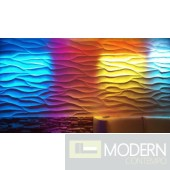 TEXTURED SURFACE CUSTOM 3D WALL SURFACE  PANEL MDF-WAVE II
