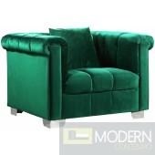 Kim Velvet Armchair GREEN