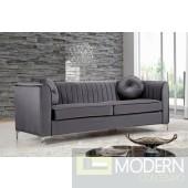 Elisa velvet Sofa Grey  In Store