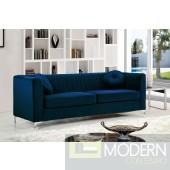 Elisa velvet Sofa blue