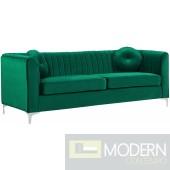 Elisa velvet Sofa Green