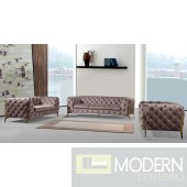 Capri Grey/silver velvet sofa set GOLD