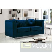 Elisa NAVY Velvet Loveseat INSTORE ITEM LOCAL DMV DEALS